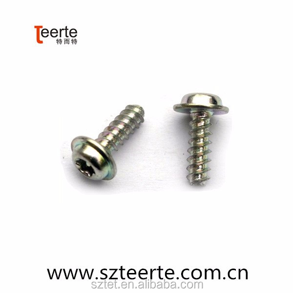 inox/stainless steel china supplier pan head tapping screw with collar flat tail