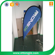 Custom Outdoor Promotion Advertising Printing Fabric Beach Teardrop Banner Flag/Feather Banner Flag
