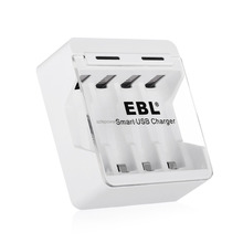 EBL 4 pay Univesal battery charger for AA/AAA/NIMH/NICD batteries Smart USB battery charger