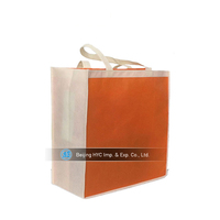 2016 New Design Non Woven Promotional Full Color Customized Shopping Bag