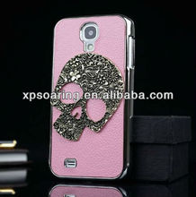 Mobile phone skull chrome cover case for Samsung Galaxy S4 I9500