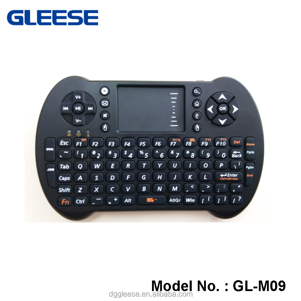 Gleese 2016 Mini 2.4G rechargeable wireless keyboard and air fly mouse for sony smart TV ,PC,alibaba italian technolog