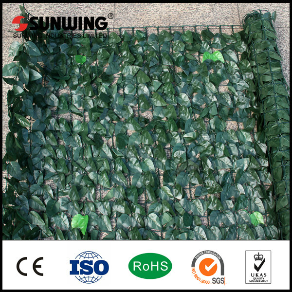 faux bushes shrubs artificial hedge mat panels fence