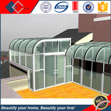 Luxury Design Outside Aluminum Frame Curved Glass Daylighting Sunroom Roof