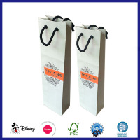 Low cost portable packaging cheap wine bottle gift bags