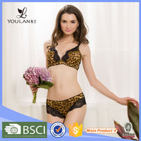 Plus Size Bra And Panty Sets School Girls Bra And Underwear Leopard Print Breasts Of Women Without Bra