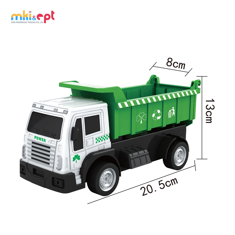 Promotion RC Green Environmental Garbage Truck Toy For Children Use