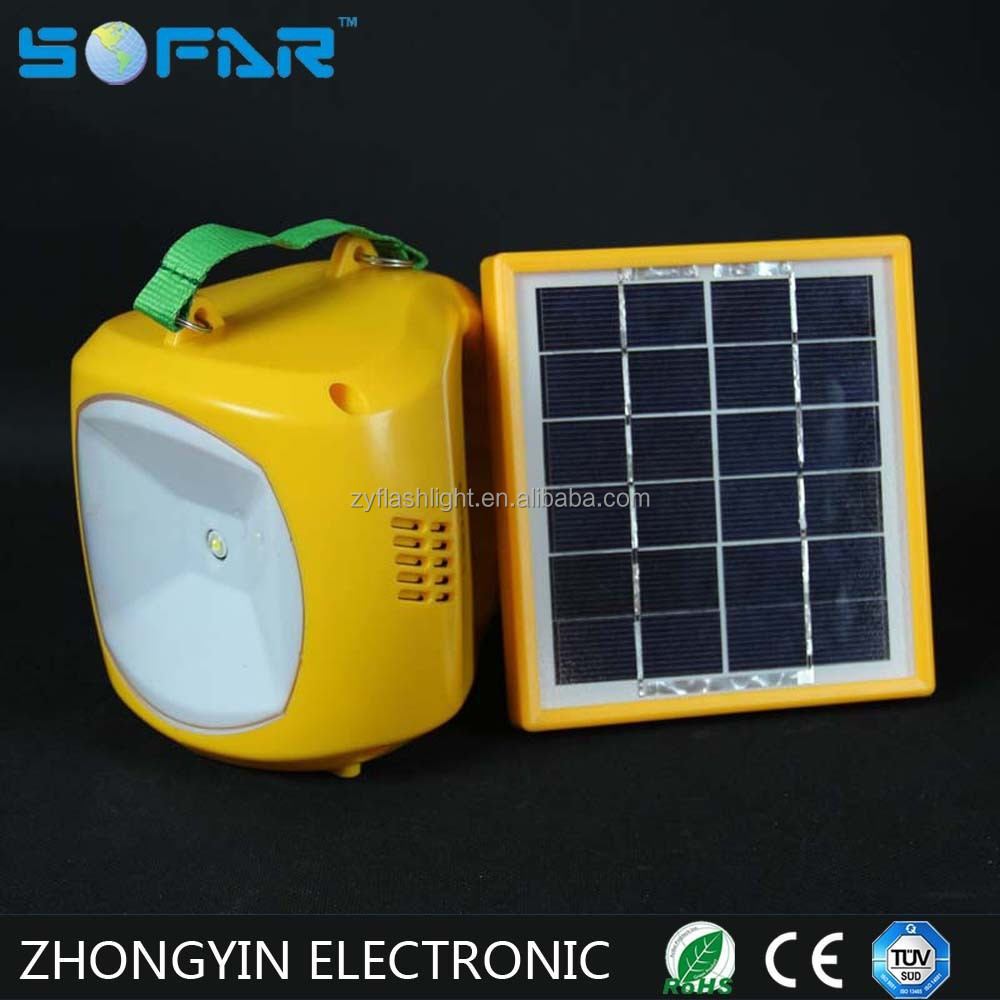 Camping Emergency Solar Led Light With Cell Phone Charger
