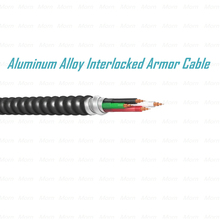 Aluminum Alloy Interlocked Armor Cable copper conductor cable 600 Voltage MC Cable withTHHN/THWN-2 Inners