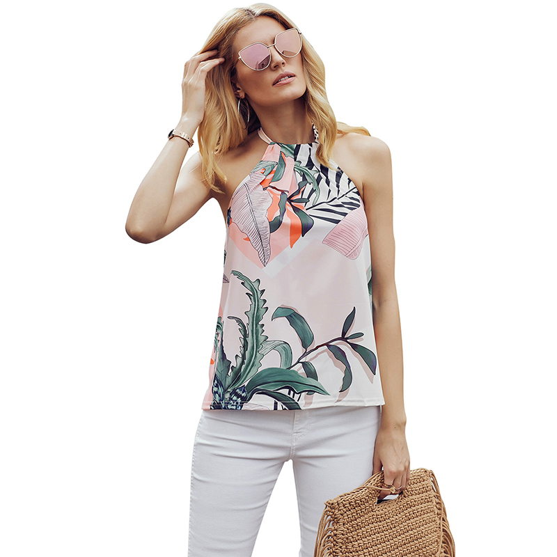 Sleeveless Flower Printed Tank Top  Latest Ladies Blouse