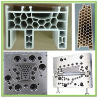 Honeycombs pattern plastic window extrusion mould