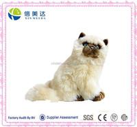 Plush White Siamese cat soft stuffed cat toy