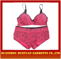 Low price night bra underwear set for young girl