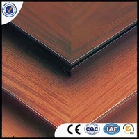 PVDF Coated Surface Treatment and Outdoor Usage WOOD TEXTURE ALUMINIUM COMPOSITE PANEL