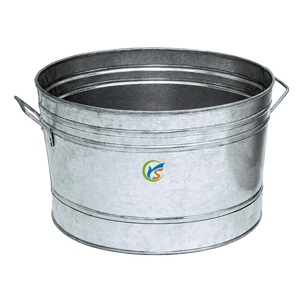 Party oval galvanized large metal beverage tub