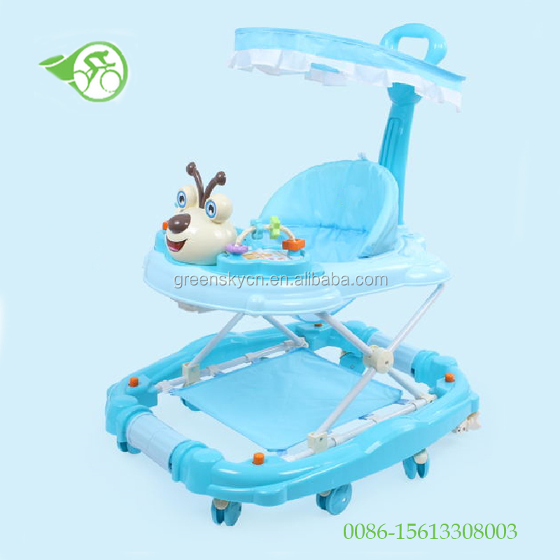 2017 Baby walker new models with music and light Height adjustable baby musica walker baby walker with 8 wheels