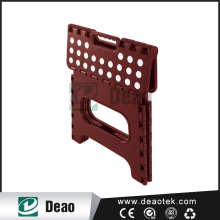 Brown High Quality Plastic Easy Carry Folding Step Plastic Stool
