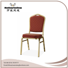 Stackable Aluminium Crown back steel banquet Chair