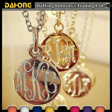 Round Blank Metal Jewelry Tags Laser Engraved for Customized Logo