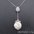 Women's Beautiful 925 Sterling Silver Freshwater Cultured Pearl Pendant DRSP0262