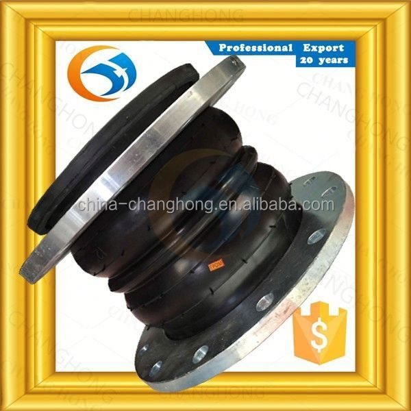 Effluent disposal PN16 double sphere hydraulic rubber expansion joint