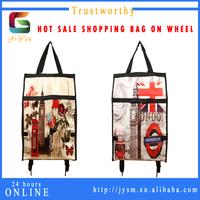 England Style Top Sell Souvenir Retro Big Ben Fashion Girl Flower Holdall Trolley Bag Pu Custom Travel Bag Trolley Luggage