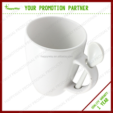 Promotional Elegant Ceramic Spooner Mug, MOQ 100 PCS 0303006 One Year Quality Warranty
