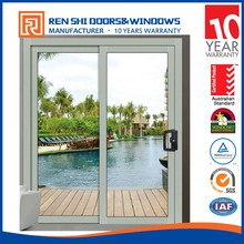 Aluminum Sliding Glass Patio Doors with Steel Insect Screen