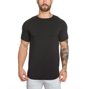 Cotton Spandex Mens Gym Wear Wholesale Mens T Shirts Fitness mens plain t shirt Hot Sale