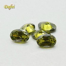 Wholesale Olive Oval Cubic Zirconia Gemstone For Dress