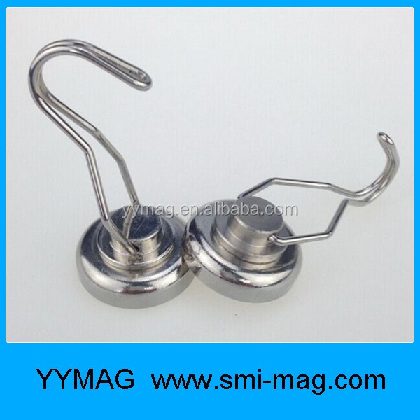 Strong rare earth magnet hook ndfeb pot magnetic