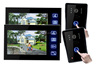 7 Inch TFT Touch Screen Color Video Door Phone Intercom Home Security IR Camera 2 Monitors