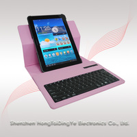"for Samsung Galaxy 10.1"" tablets 7510 360 Rotating Stand Leather Case Cover with Bluetooth Keyboard"