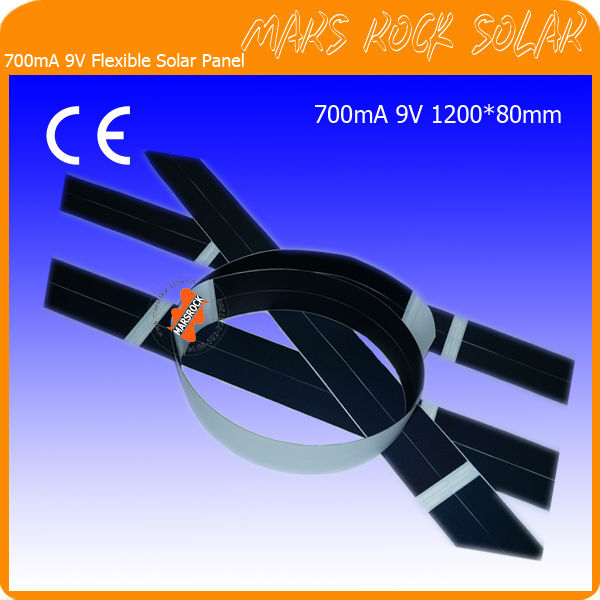 700mA 9V 1200x80mm Foldable Flexible Thin Film Solar Panel