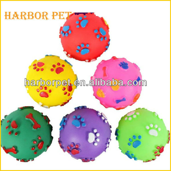 Non-toxic PVC Squeaky Dog Toy chew toy ball