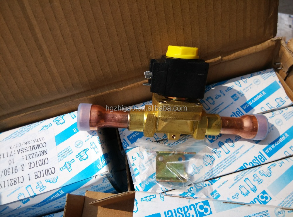 High quality Castel 220/230 volt solenodi valve made in Italy