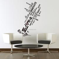 Company office decor customizable creative English words wall paper sticker