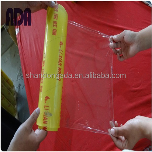 Transparent Color Box stretch film wrap plastic roll with slide cutter