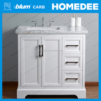 Homedee Hangzhou Manufacture Teak wood bathroom cabinet vanity furniture