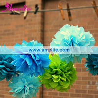 AF964 Assorted colors tissue giant paper flowers