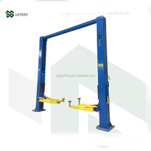 4T manual one side release clear floor two post car lift with CE certification