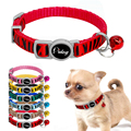 6pcs together nylon small pet collar zebra pattern collars for cat