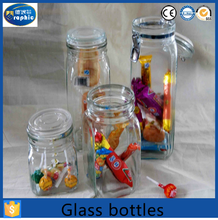 Large size glass candy jar crystal glass jar with glass lid