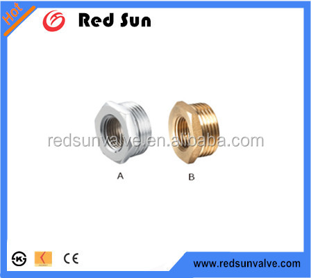HR7070 factory manufacture forged brass water ppr/pvc pipe bush plumbing fittings