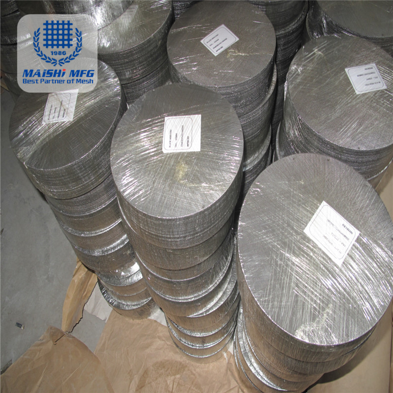 Micron Stainless Steel Woven Wire MeshFilter Disc