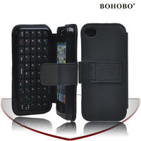 PU leather case for iphone 5 with bluetooth Keyboard