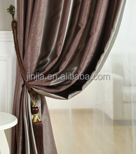Strip blackout curtain Monad modern leaf spice and strip curtain blackout with magnetic strip for meeting room