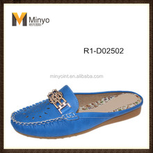 Minyo attractive fashion and flat shoes PU woman slipper
