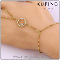 74262 xuping wholesale fashion high quality 14k gold long pendant charm bracelet jewelry