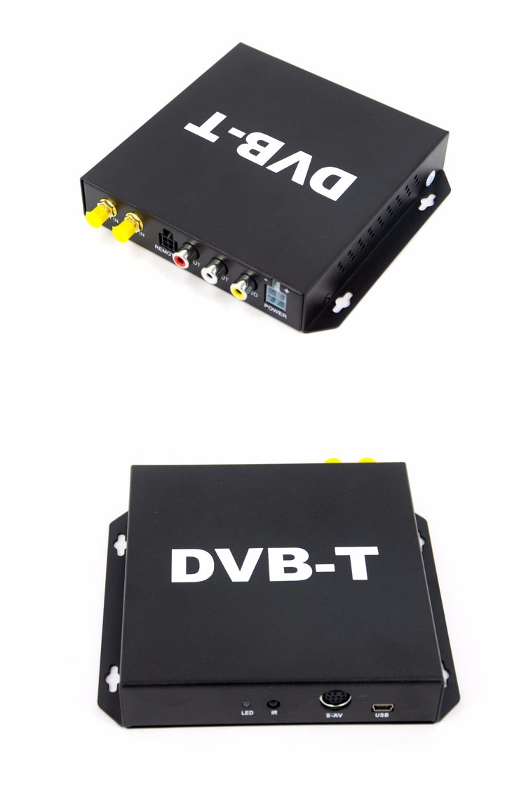 SYTA S2011B HD Car DVB-T TV tuner receiver box, Compatible with DVB-T, MEPG-2/4 and H.264 standard